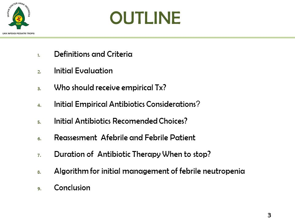 OUTLINE Definitions and Criteria Initial Evaluation