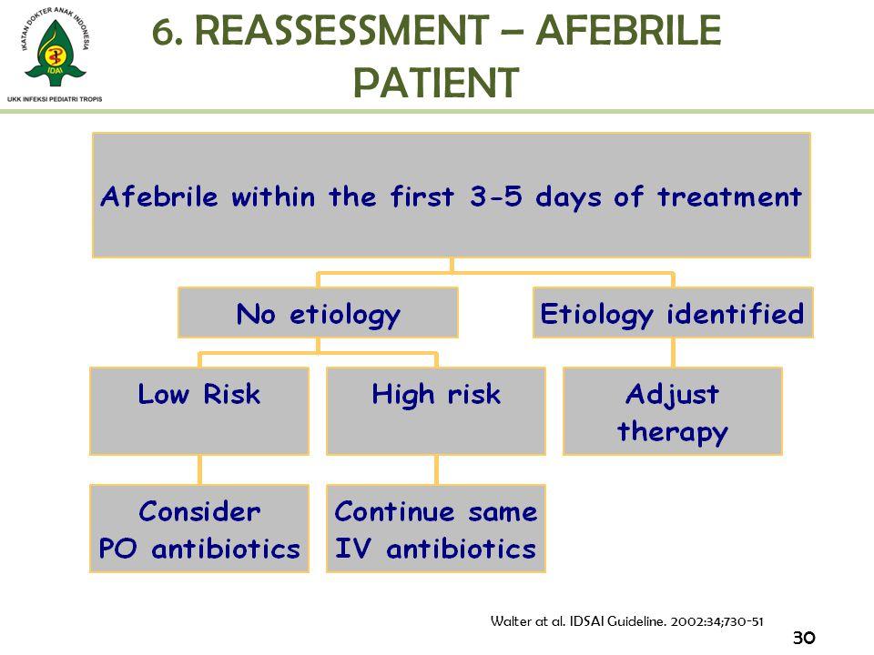 6. REASSESSMENT – AFEBRILE PATIENT