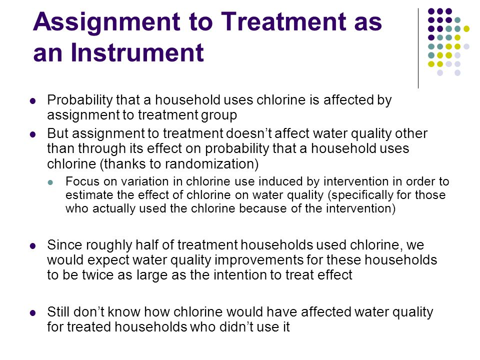 Assignment to Treatment as an Instrument