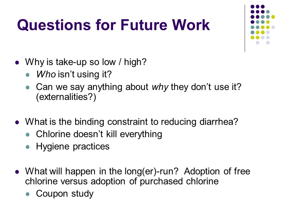 Questions for Future Work