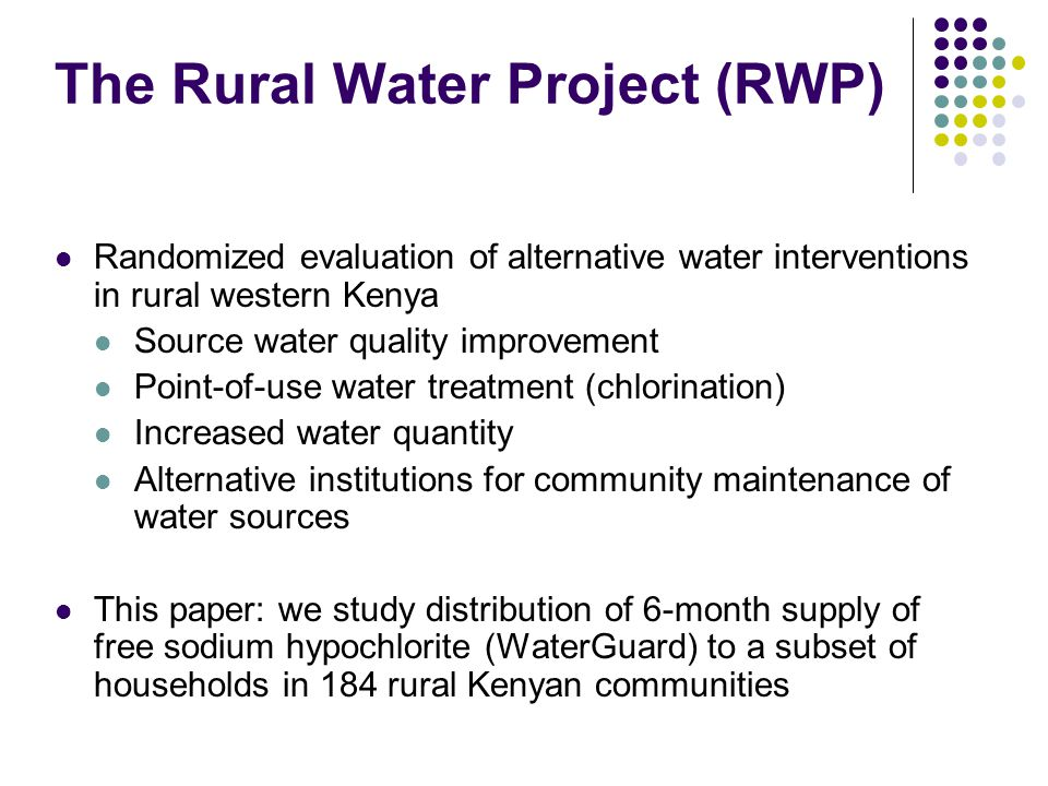 The Rural Water Project (RWP)