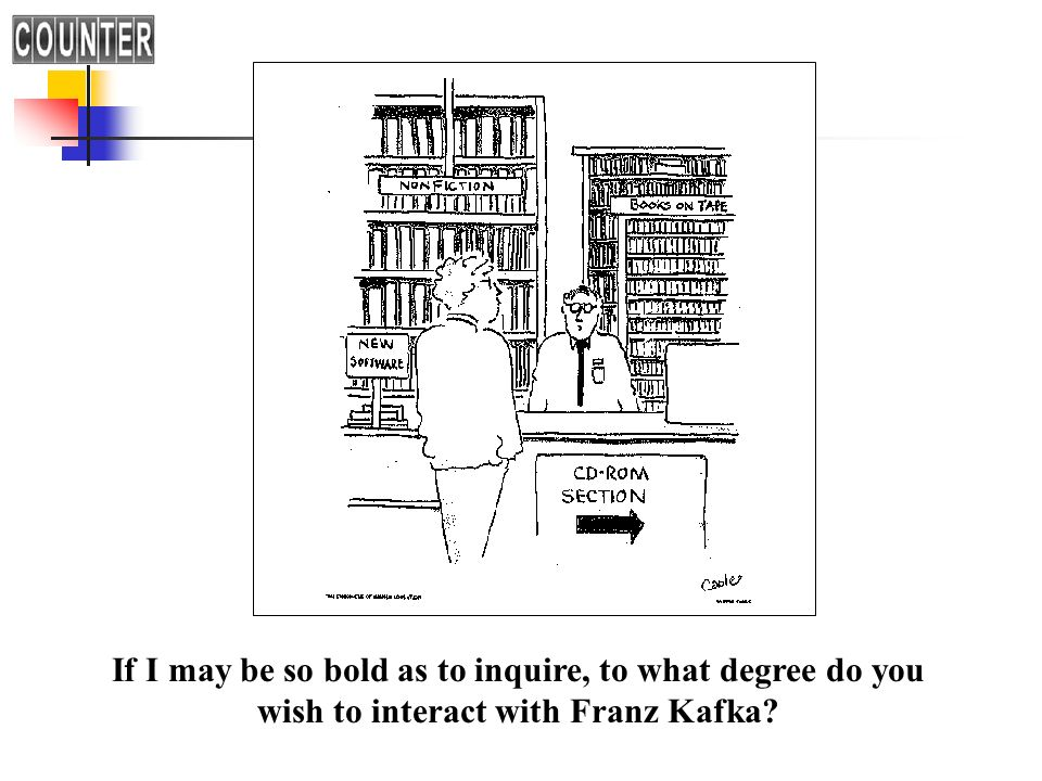If I may be so bold as to inquire, to what degree do you wish to interact with Franz Kafka