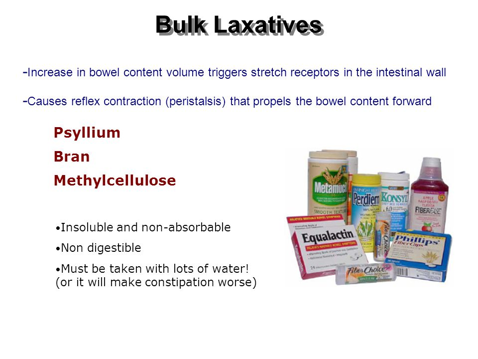 Bulk Laxatives Psyllium Bran Methylcellulose