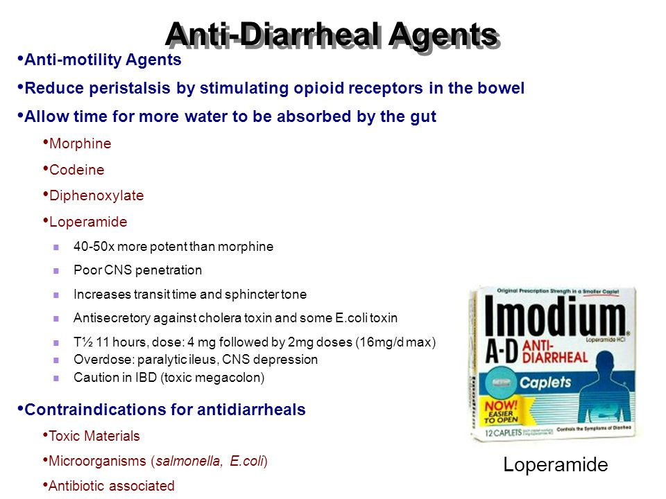 Anti-Diarrheal Agents