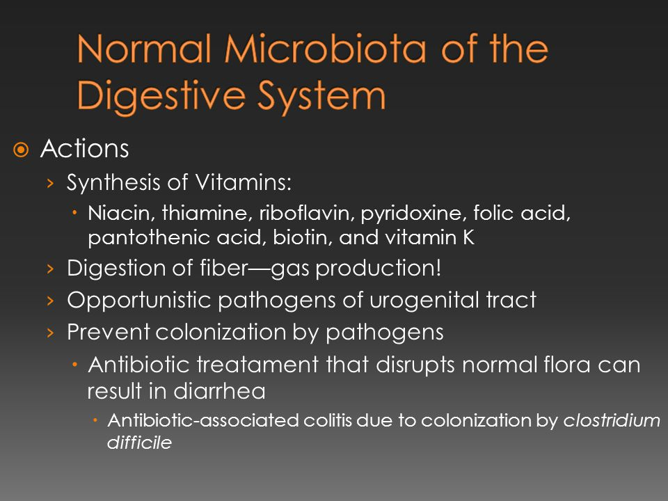 Normal Microbiota of the Digestive System