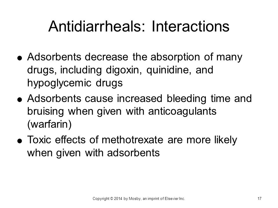 Antidiarrheals: Interactions