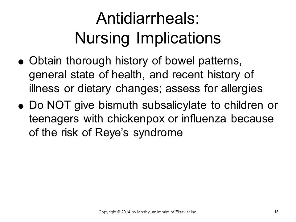 Antidiarrheals: Nursing Implications