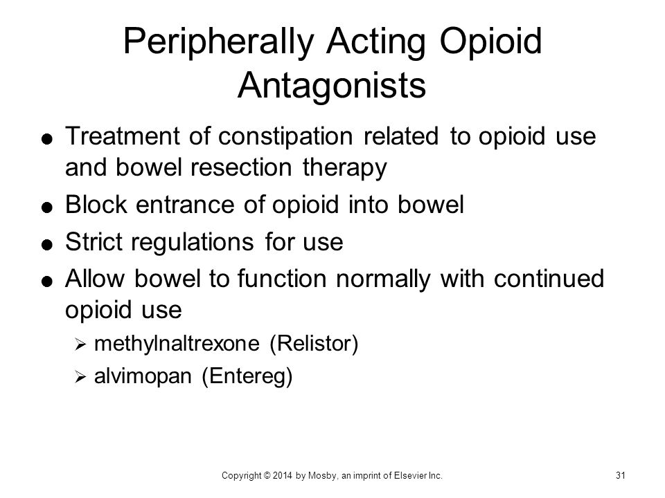 Peripherally Acting Opioid Antagonists