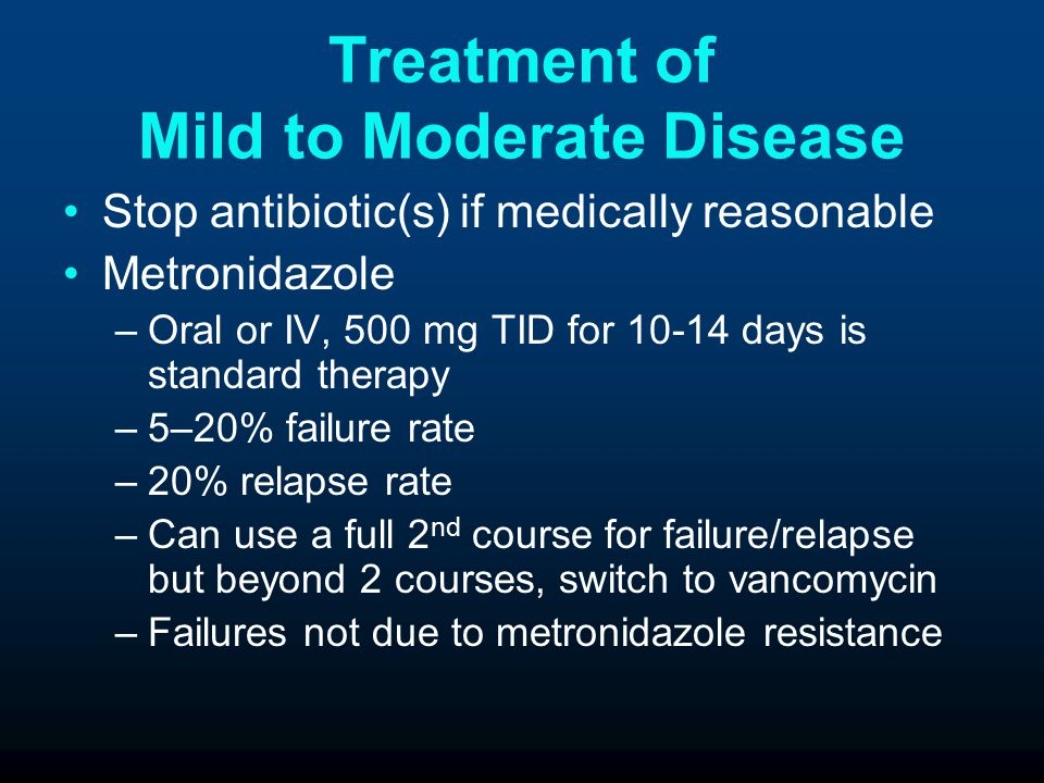 Treatment of Mild to Moderate Disease