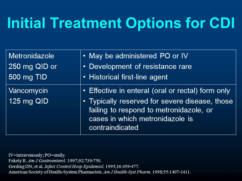 Initial Treatment Options for CDI