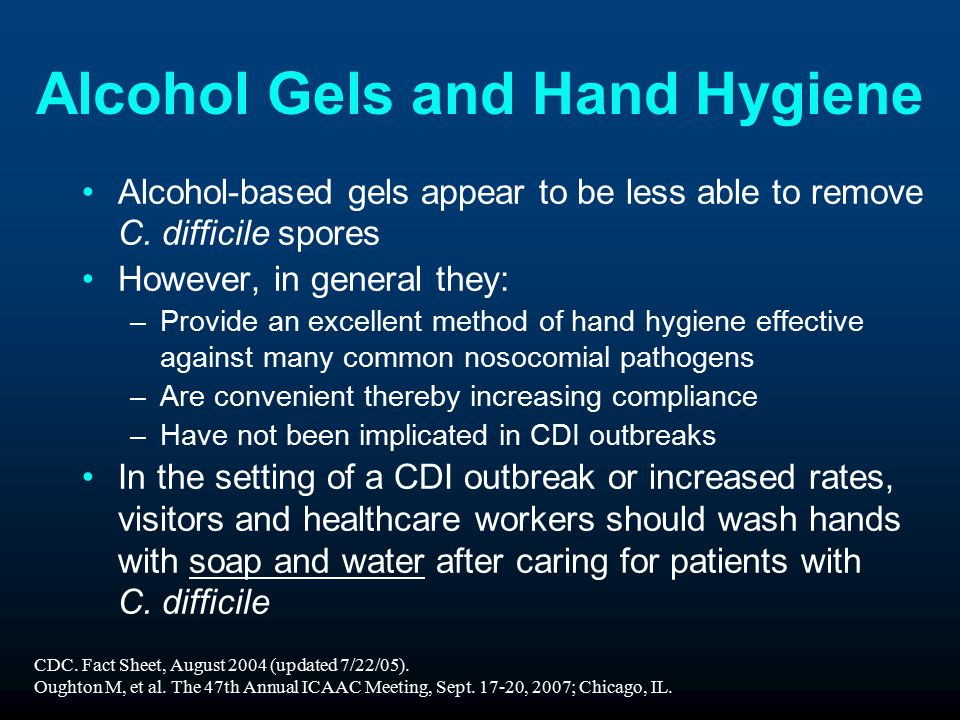 Alcohol Gels and Hand Hygiene