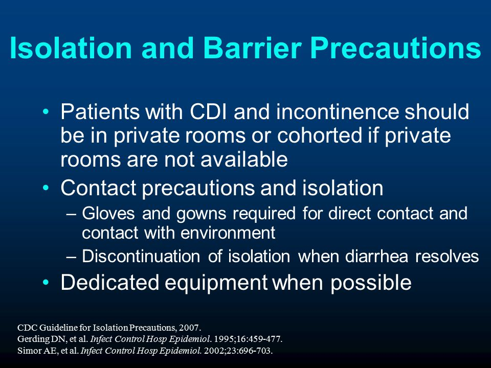 Isolation and Barrier Precautions