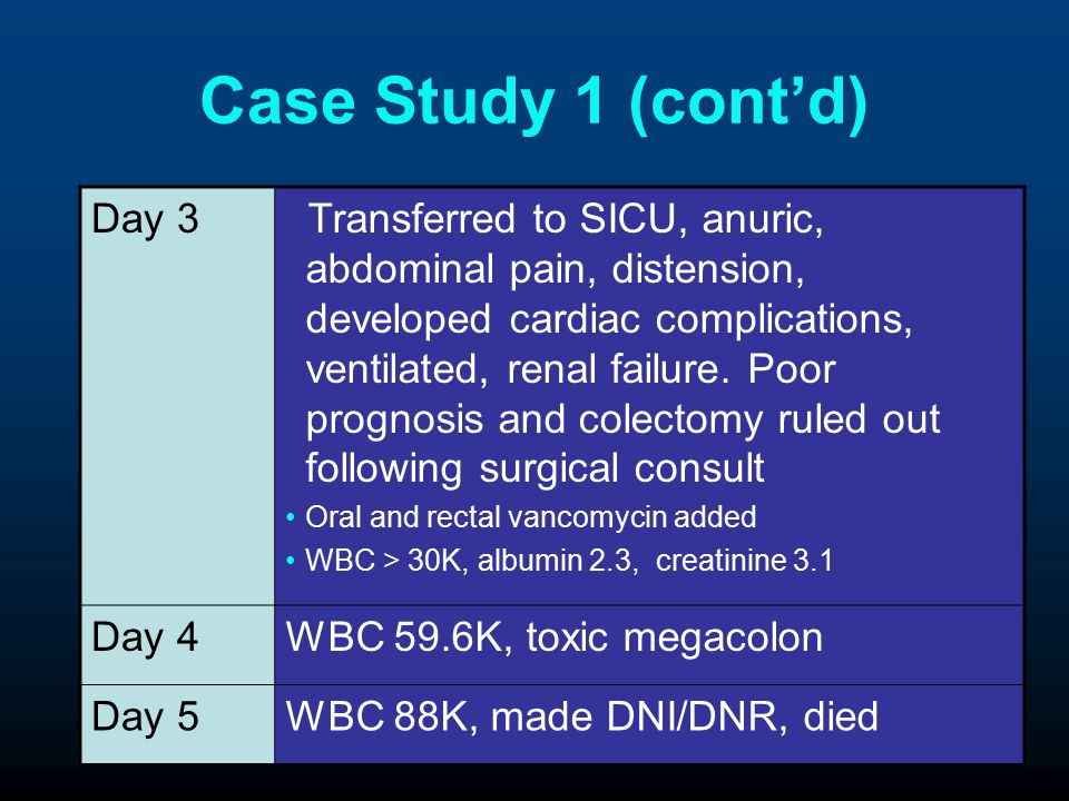 Case Study 1 (cont'd) Day 3