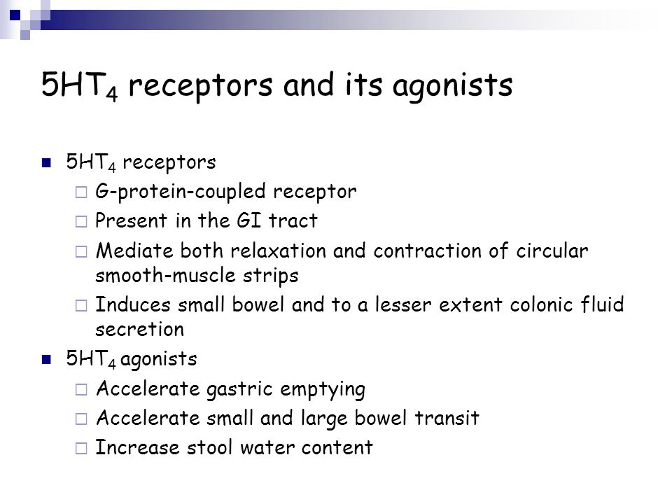 5HT4 receptors and its agonists