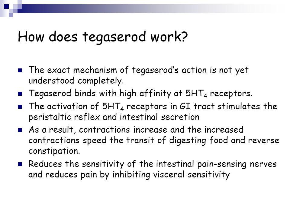 How does tegaserod work