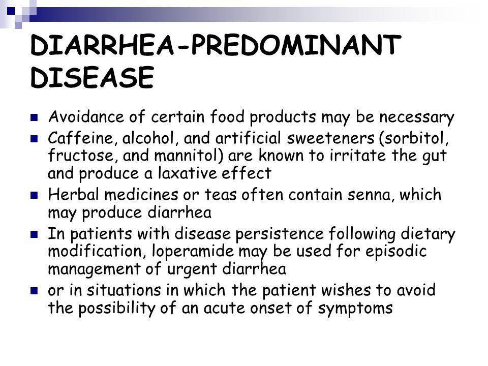 DIARRHEA-PREDOMINANT DISEASE