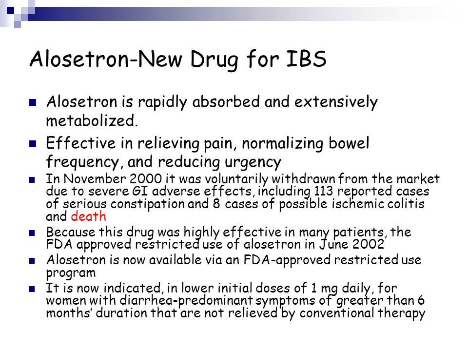 Alosetron-New Drug for IBS