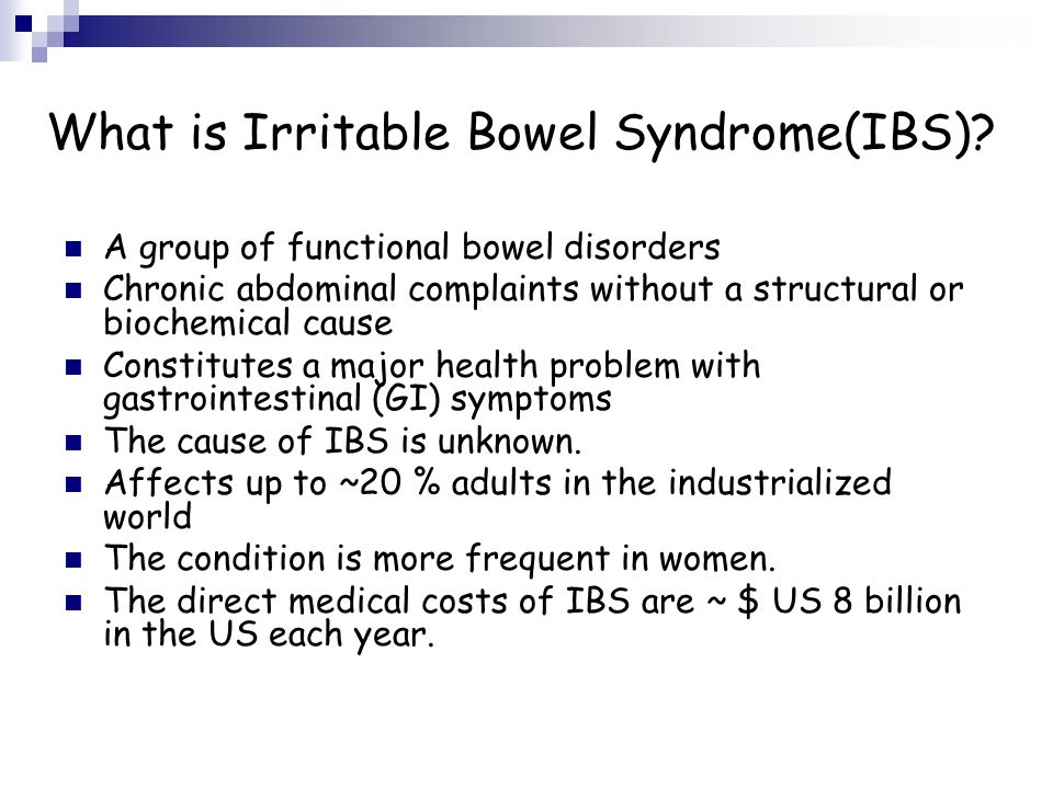 What is Irritable Bowel Syndrome(IBS)