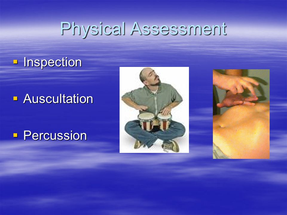 Physical Assessment Inspection Auscultation Percussion