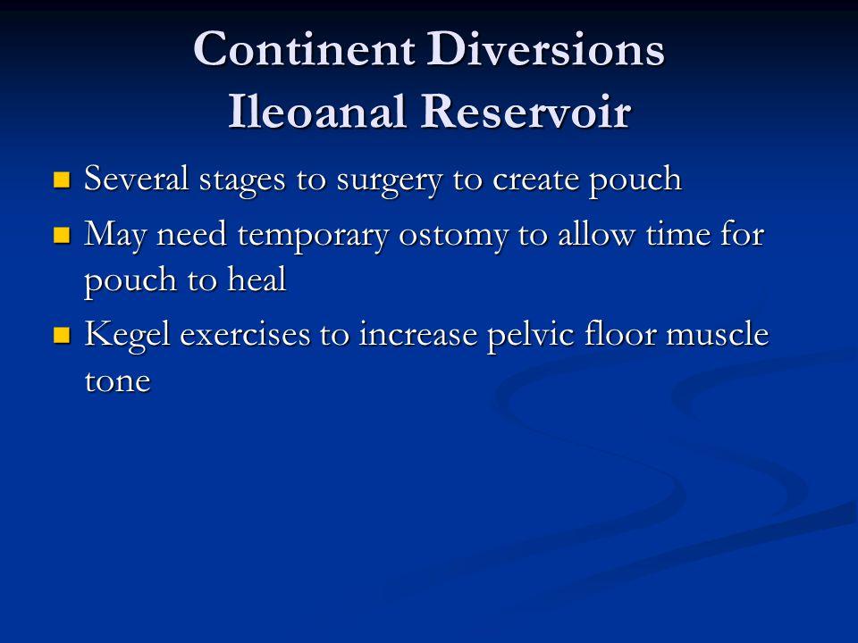 Continent Diversions Ileoanal Reservoir