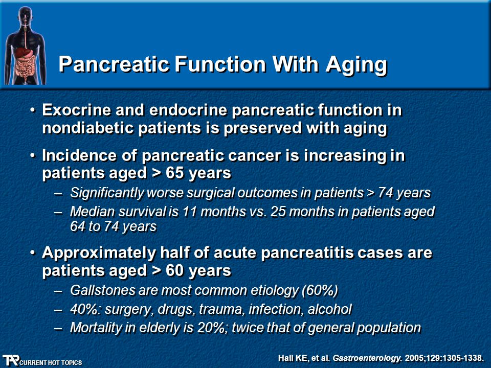 Pancreatic Function With Aging
