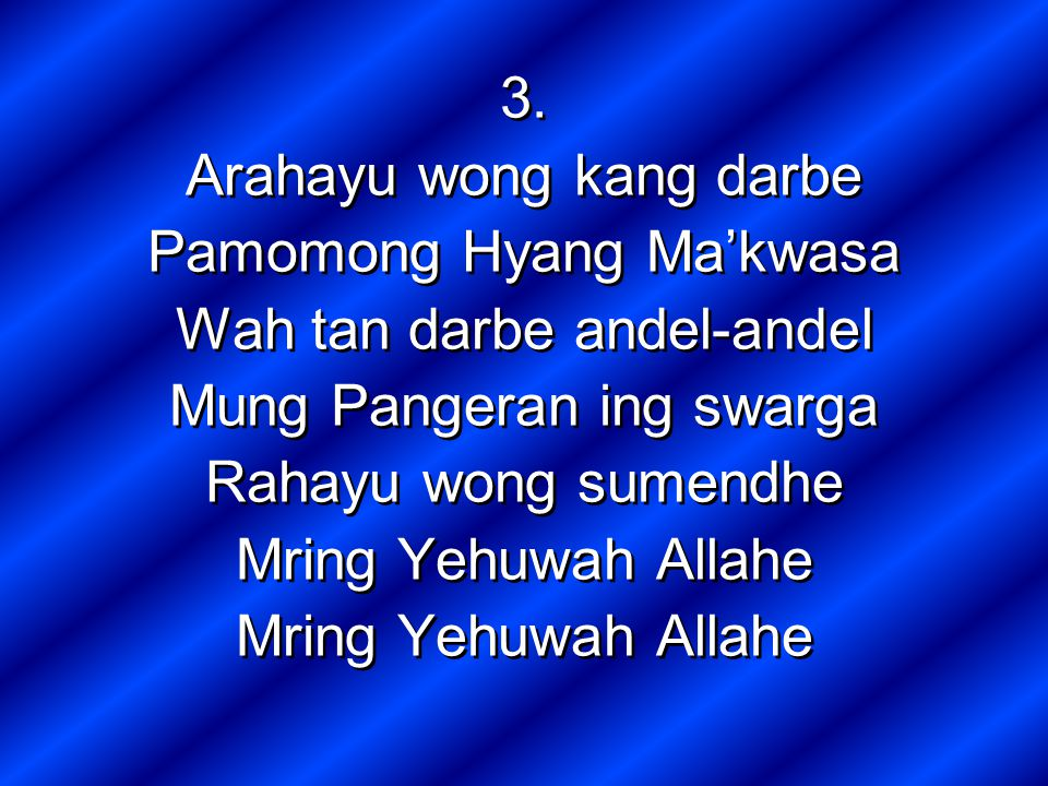 Arahayu wong kang darbe Pamomong Hyang Ma'kwasa