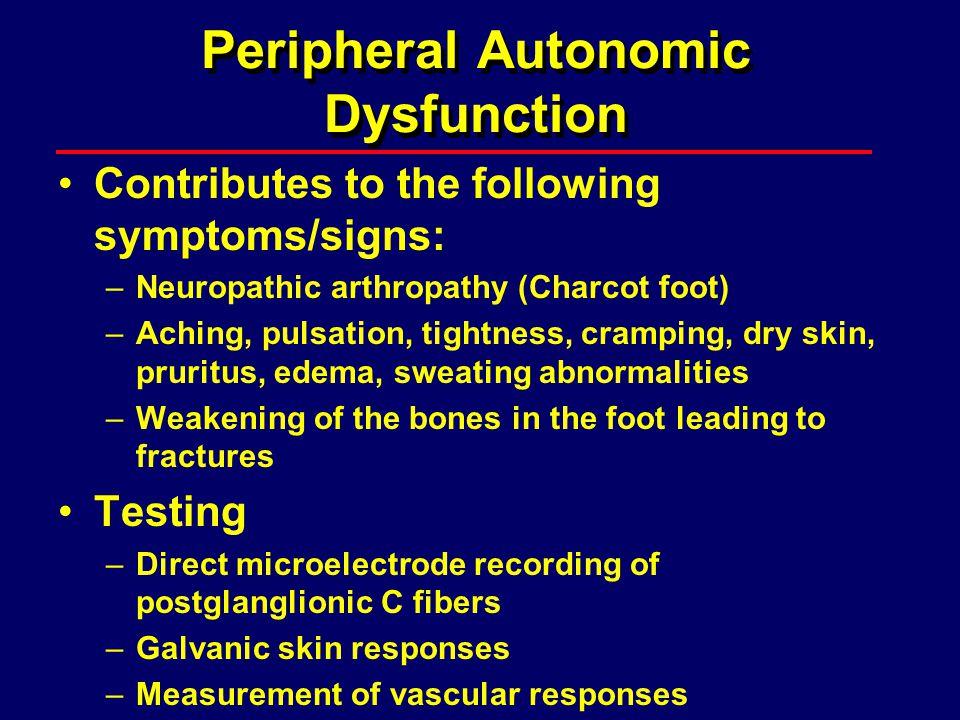 Peripheral Autonomic Dysfunction