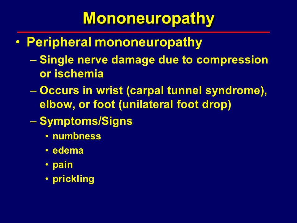 Mononeuropathy Peripheral mononeuropathy
