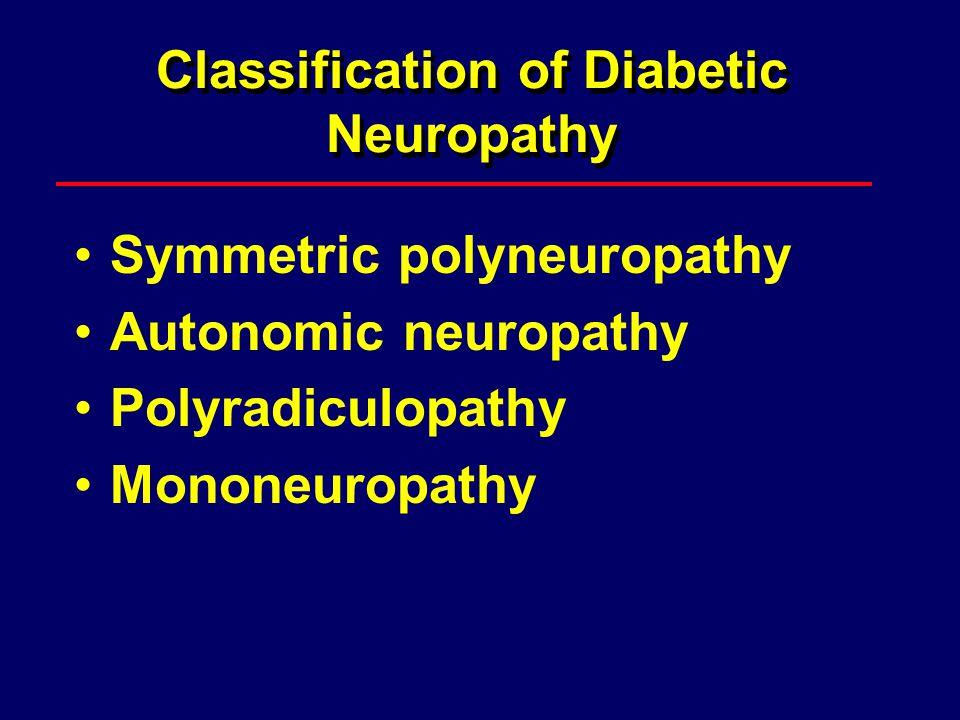 Classification of Diabetic Neuropathy