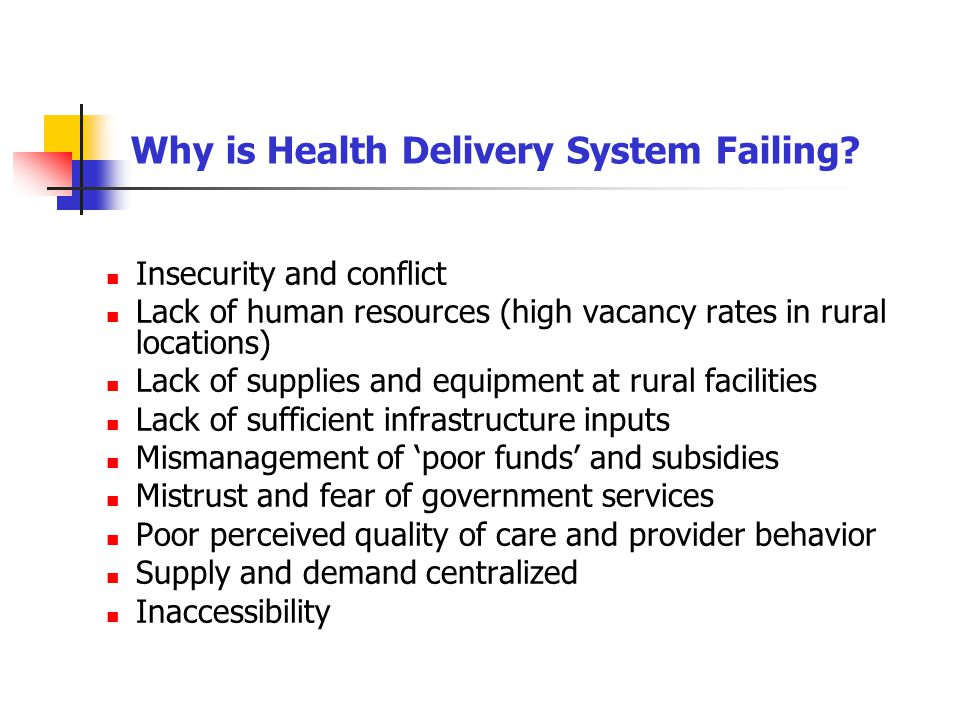 Why is Health Delivery System Failing
