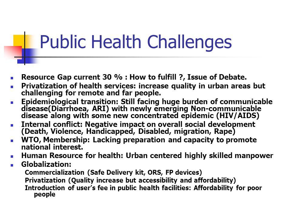 Public Health Challenges