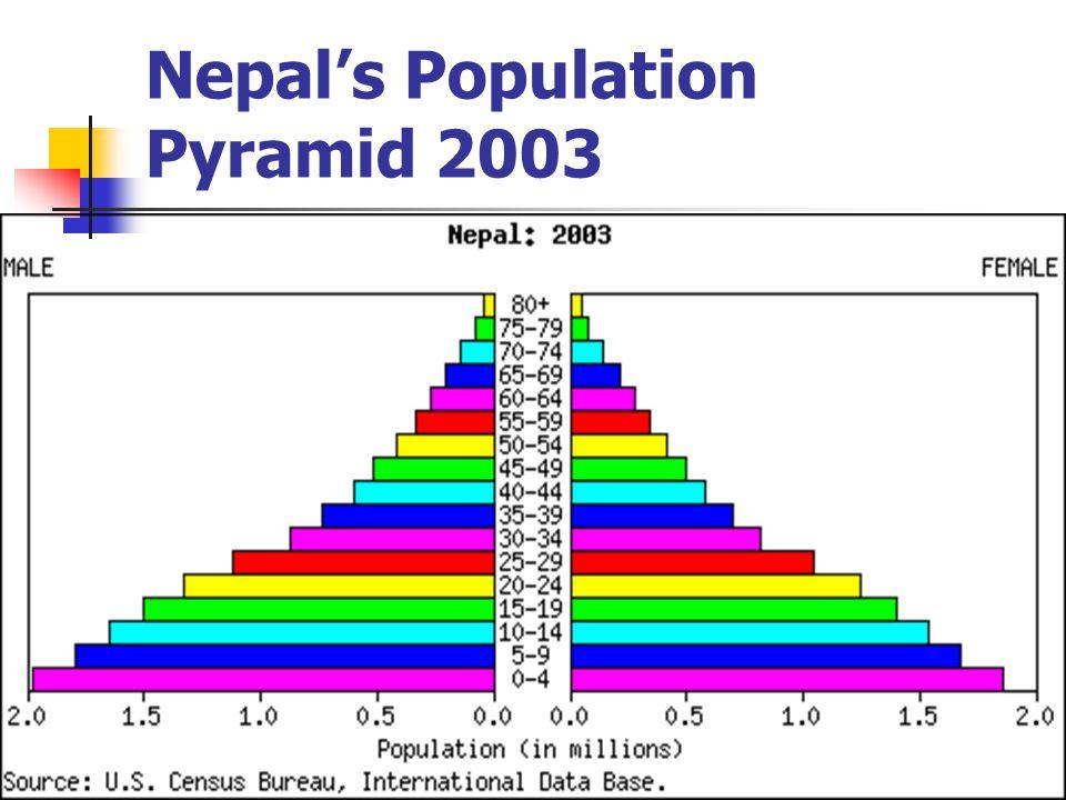 Nepal's Population Pyramid 2003