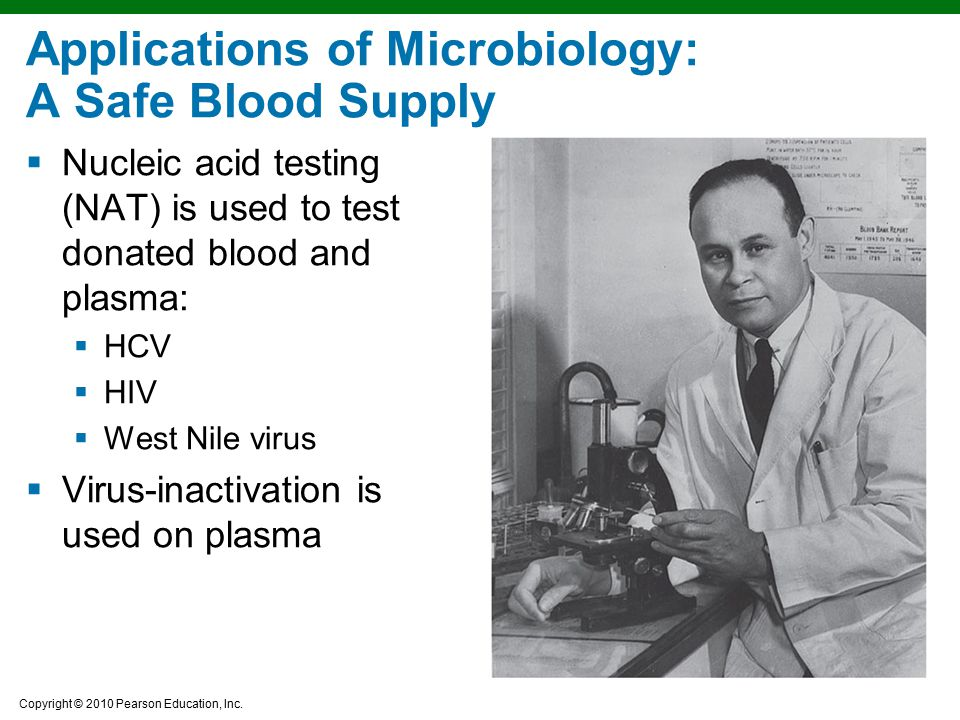 Applications of Microbiology: A Safe Blood Supply