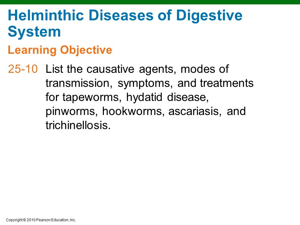 Helminthic Diseases of Digestive System