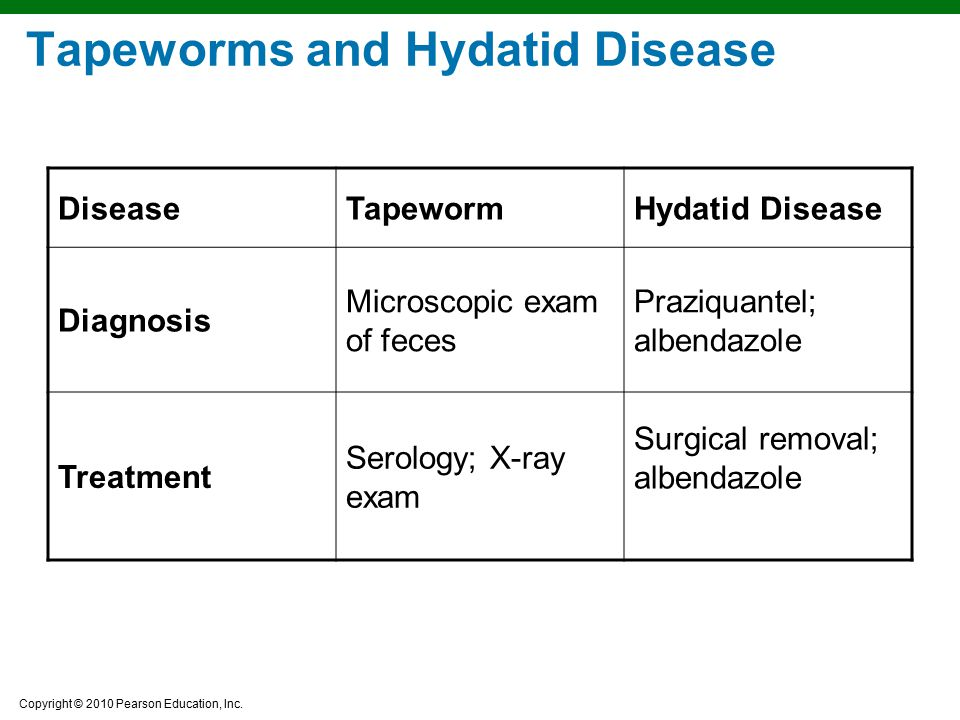 Tapeworms and Hydatid Disease