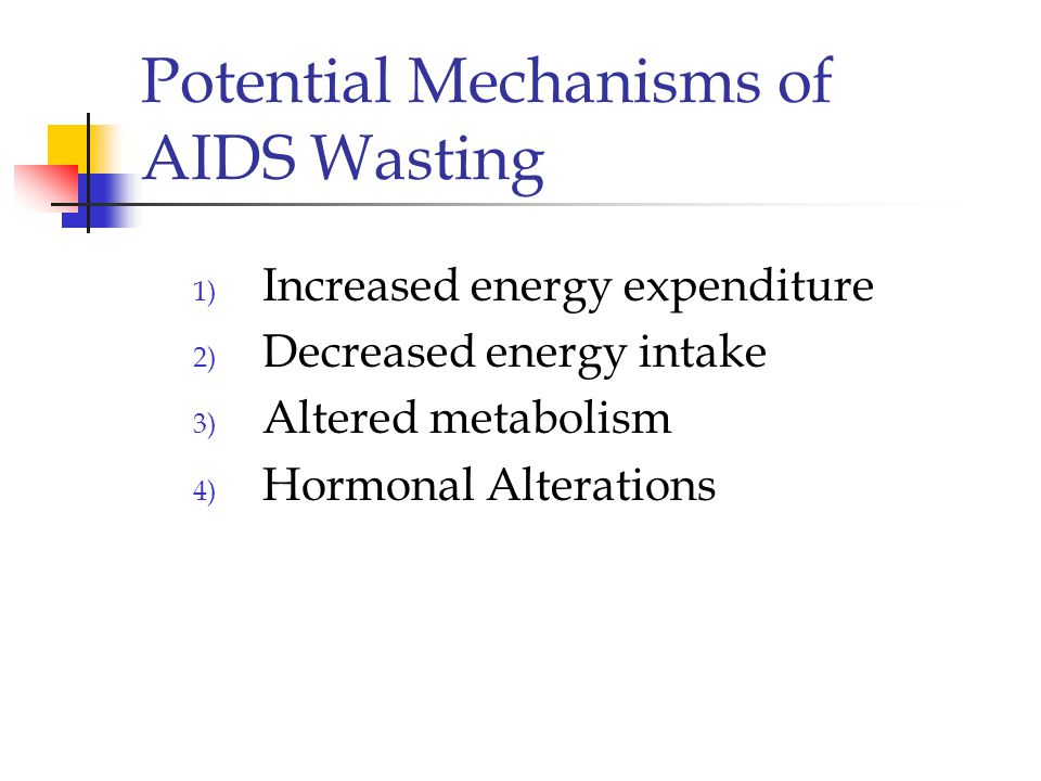 Potential Mechanisms of AIDS Wasting