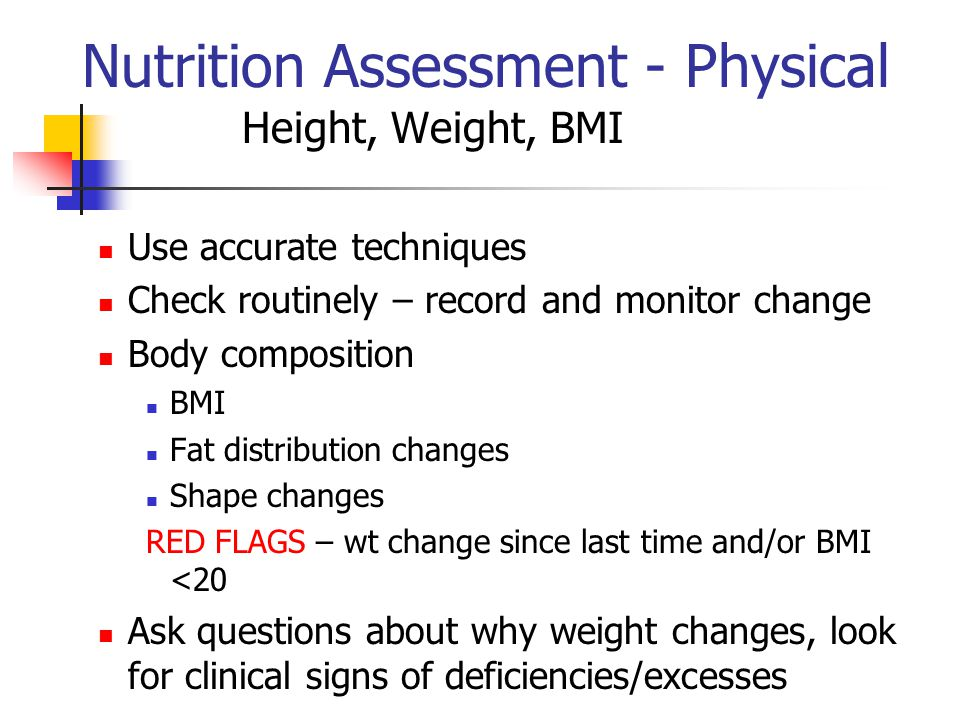 Nutrition Assessment - Physical