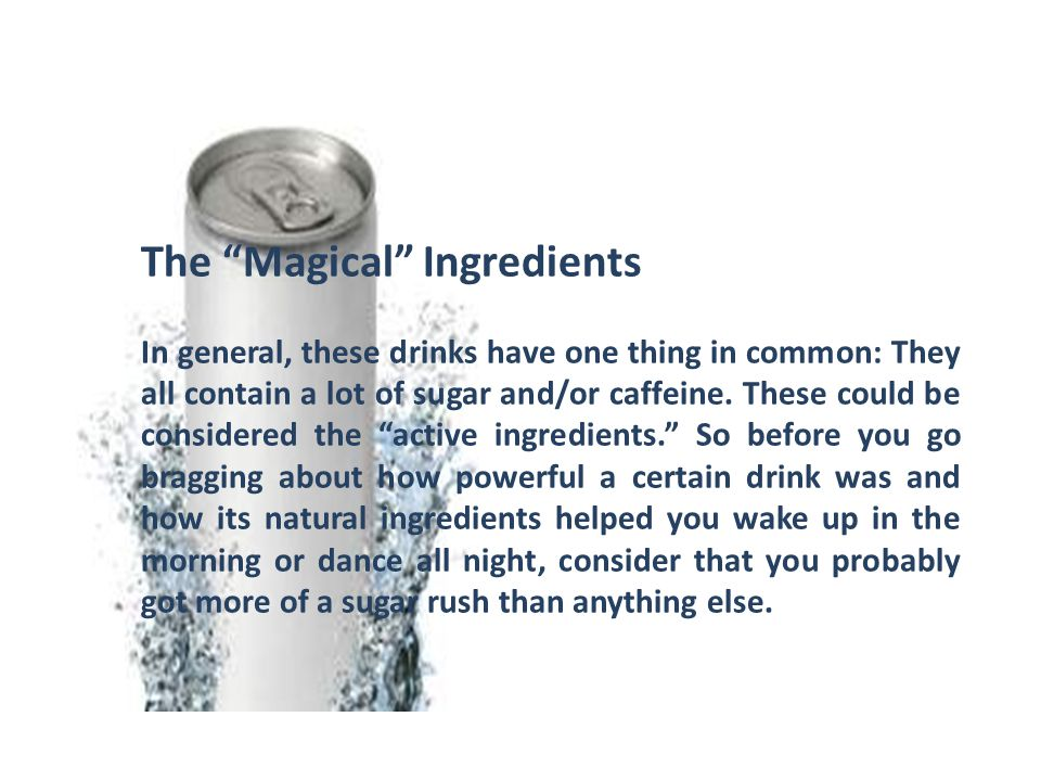 The Magical Ingredients