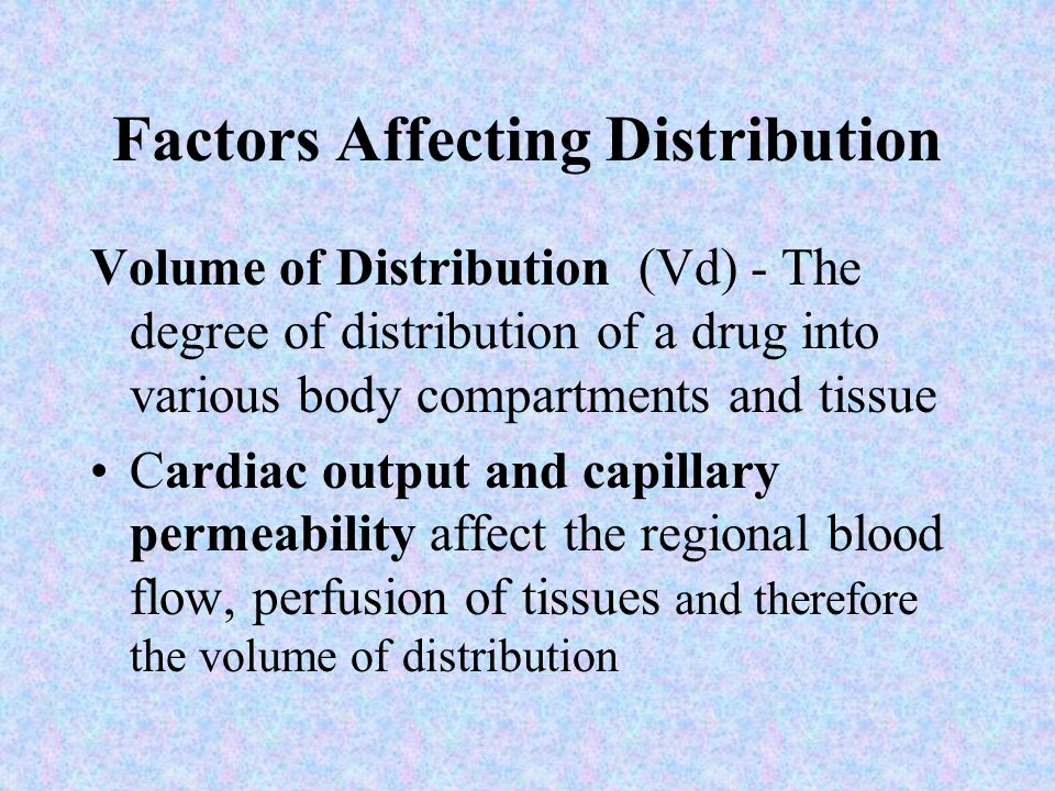 Factors Affecting Distribution