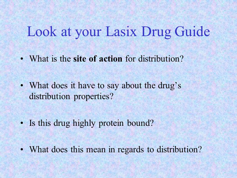 Look at your Lasix Drug Guide