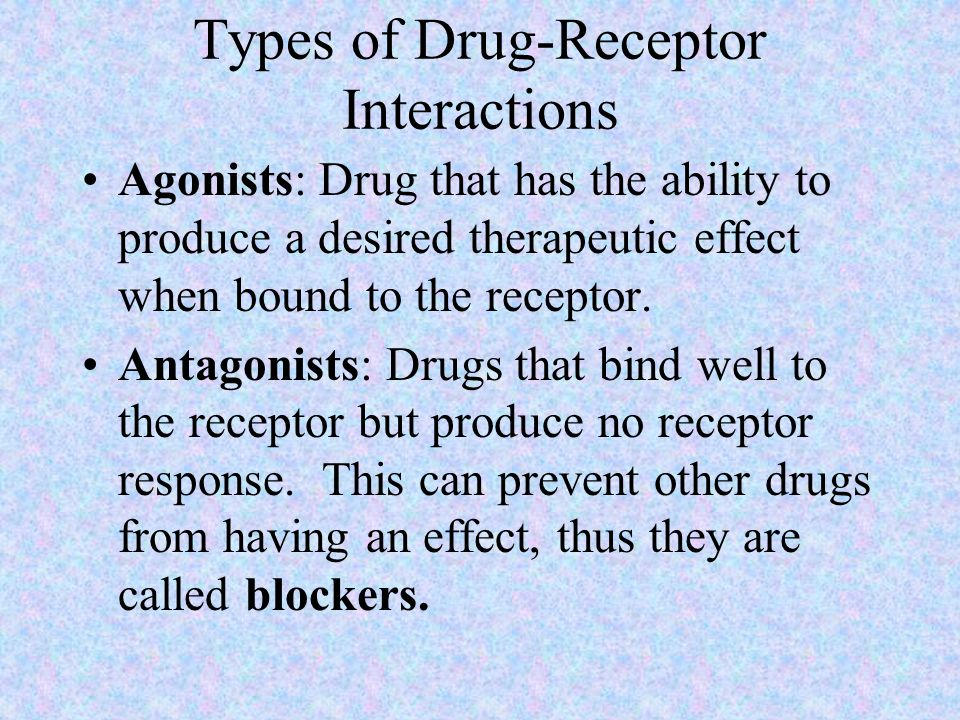 Types of Drug-Receptor Interactions