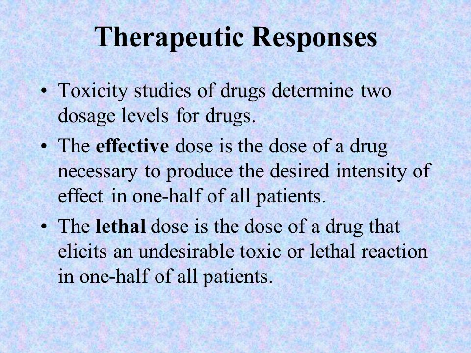 Therapeutic Responses