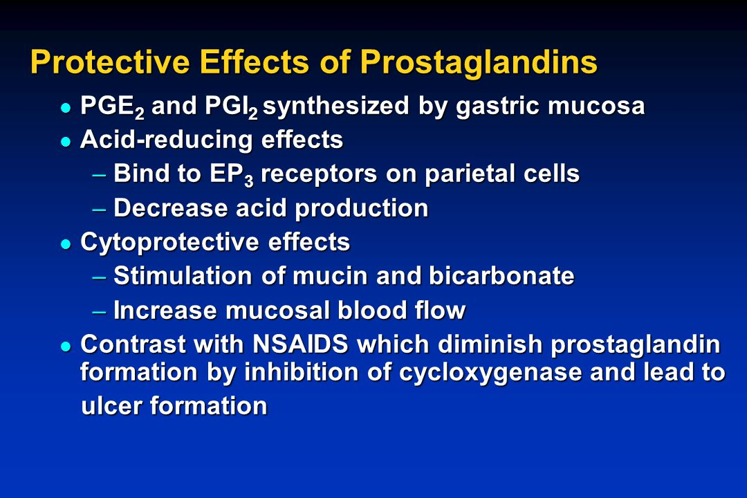 Protective Effects of Prostaglandins