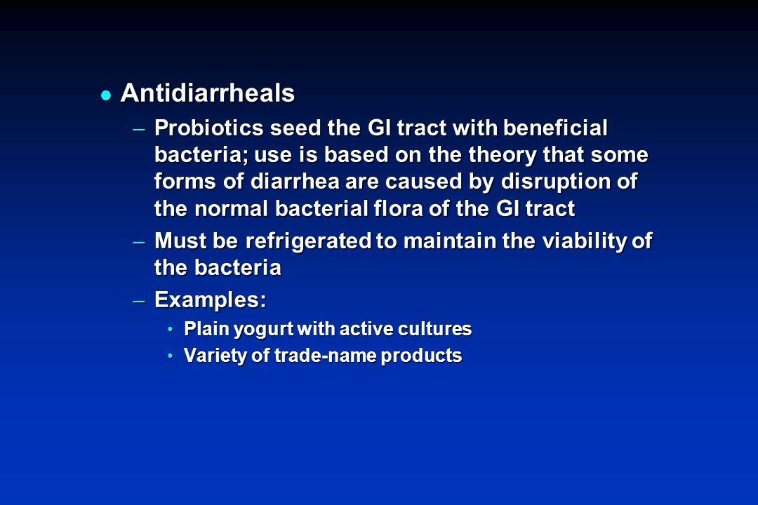 Antidiarrheals