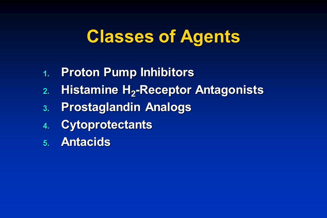 Classes of Agents Proton Pump Inhibitors