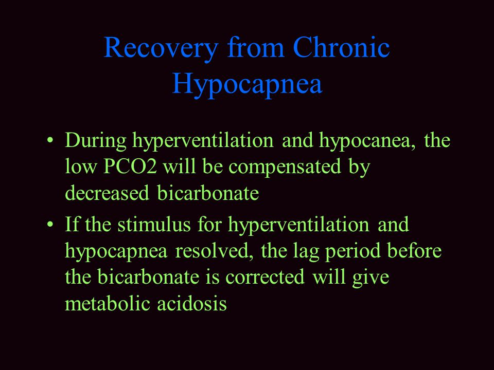 Recovery from Chronic Hypocapnea