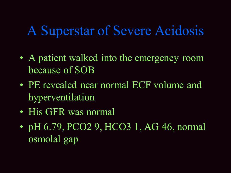 A Superstar of Severe Acidosis