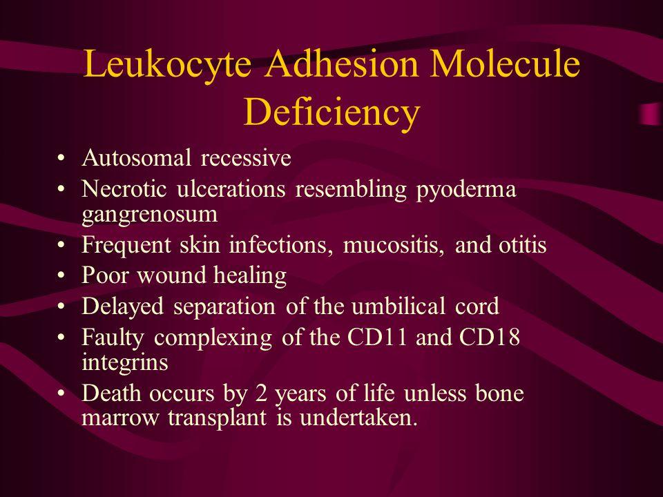 Leukocyte Adhesion Molecule Deficiency