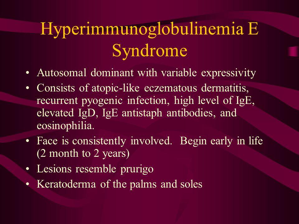 Hyperimmunoglobulinemia E Syndrome