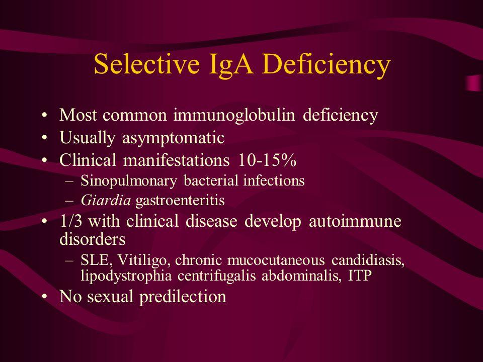 Selective IgA Deficiency
